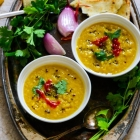 Mushurir dal (Red  lentil  soup)