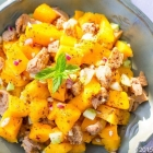Mango and Soya Chunk Summer salad