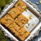 Persimmon Burfi for 'Makar Sankranti'