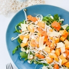 Lentil sprouts and Tropical fruit salad
