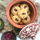 Ricotta cheese shondesh golap jol diye:  Rose flavoured ricotta cheese shondesh