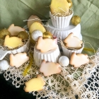 Eggless easter bunny sugar cookies
