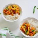 Phool Kofi Aloor Dalna (Cauliflower with Peas & Potatoes)