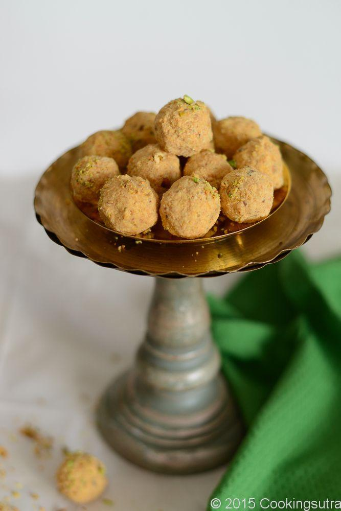 Besan  Laddu  (Chick pea flour balls). Gluten free and  protein  packed