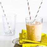 Chickoo ( Manilkara  Zapota ) and almond shake. GF with DF option