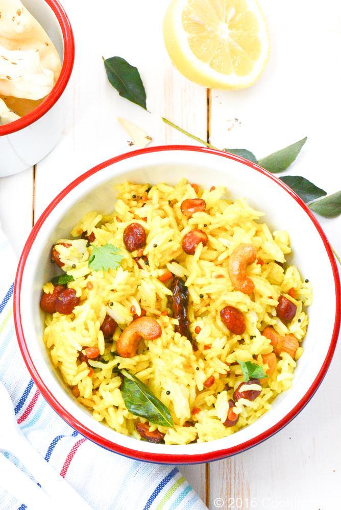 Nimbu chawal: Lemon rice