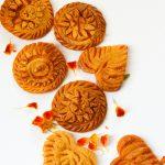 Moong Pakon pitha: Yellow Moong bean and rice flour cake: A modern take: Gluten free.