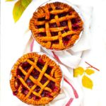 Apple and Raspberry lattice mini pies