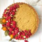 Mango tart with Cardamom flavour : Vegan option