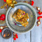 Besan Burfi: Chickpea flour fudge: GF