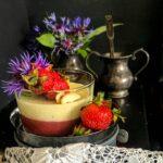 Strawberries and Kulfi Pannacotta